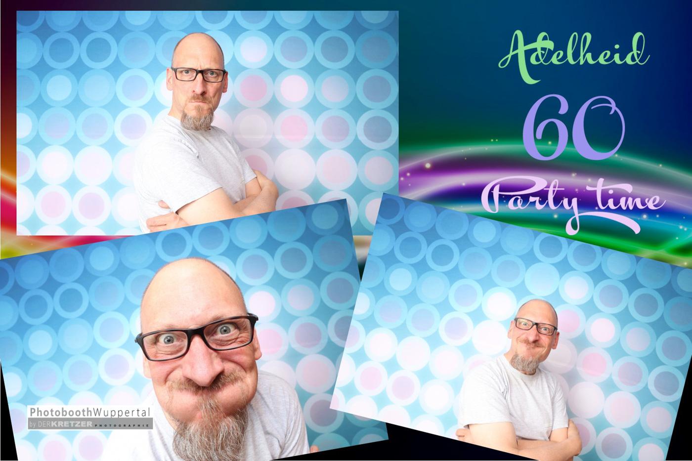 Ausdruck der Photobooth bei 60 tem Geburtstag in UNNA